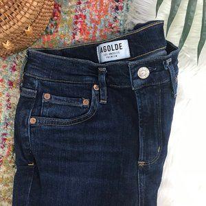 AGOLDE Dark Denim Skinny Jeans